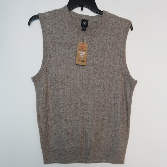 Dockers Sweaters M Sweater Vest Beige Cable Knit Nwt Mens Poshmark
